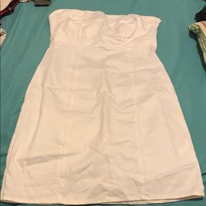 H&M white Strapless Mini Dress